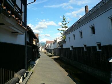 倉吉の町並み