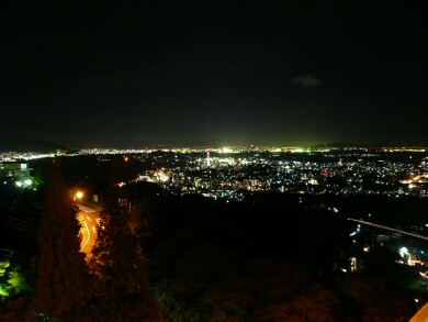 火の山公園 夜景