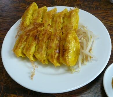 丸福のウコン餃子