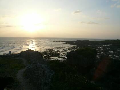 具志川城から見る夕日