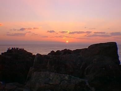 潮岬の風景日の出