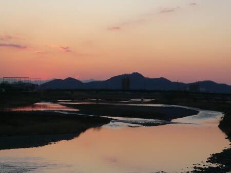 渡良瀬橋から見る夕日.jpg