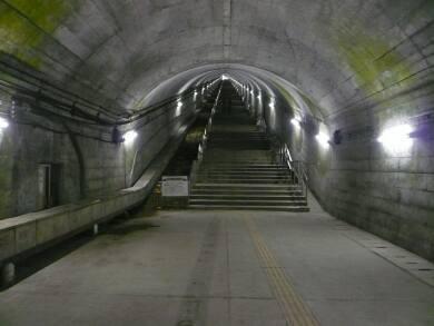 土合駅 階段上り