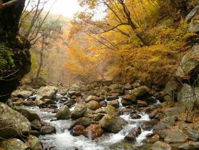 日川渓谷竜門峡