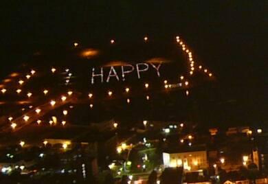 函館の夜景happy