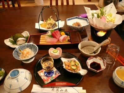 美滝山荘の夕食
