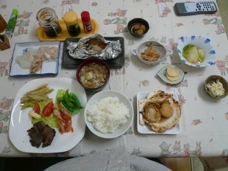 民宿ふるさと 夕食.jpg