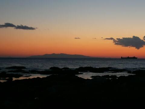 野島崎の夕陽
