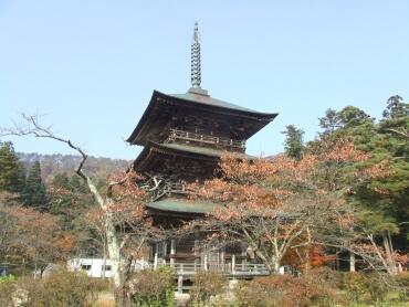 安久津八幡神社 三重塔