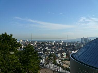 柿本神社から明石海峡大橋
