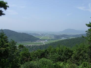 小谷城からの風景