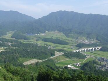 竹田城からの風景