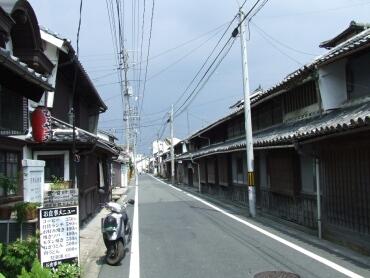 津山の町並み