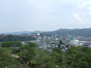 津山城からの風景