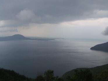 奥琵琶湖パークウェイから見た琵琶湖