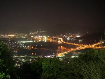 広島黄金山_夜景南方面