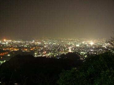 広島黄金山_夜景北方面